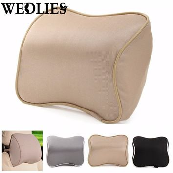 Memory Foam Office Auto Seat Neck Pillow Head Rest Cushion Lumbar Protection Pillow Support Headrest Pad Home Textiles Supplies