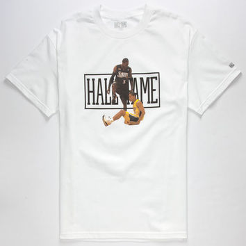 Hall Of Fame Step Over Mens T-Shirt White  In Sizes