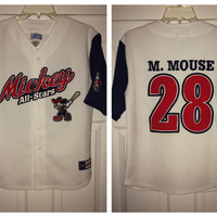 Sale!! Vintage MICKEY MOUSE baseball All Star jersey Disney tee shirt