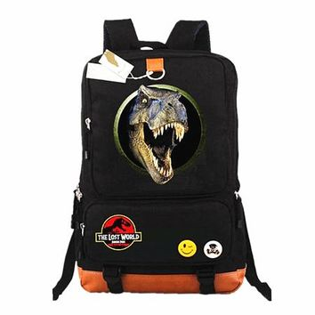 Student Backpack Children Jurassic Park Laptop Bags Casual Backpack teenagers Men women's Kids Student School Bags bookbag travel Shoulder Bag Mochilas AT_49_3