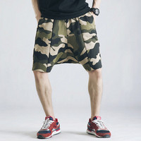 Camo Harem Knee Length Shorts