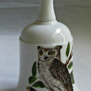 House of Goebel Great Horned Owl Porcelain Bell Bavaria Germany