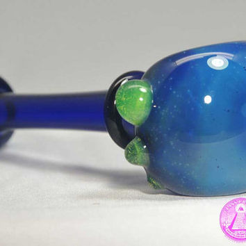 Cobalt Slyme Marble Maria Glass Pipe