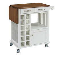 Home Styles Furniture 5254-95 Danville White and Oak Kitchen Cart