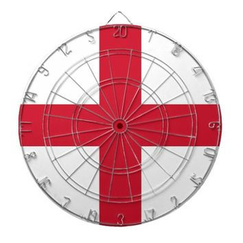 Dartboard with Flag of England