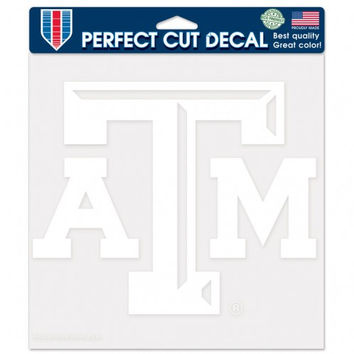 "Texas A&M Aggies Die-Cut Decal - 8""x8"" White"