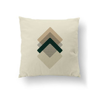 Beige Green, Square Pillow, Home Decor, Throw Pillow, Textured Watercolor, Simple Art, Decorative Pillow, Geometric Textures, Cushion Cover
