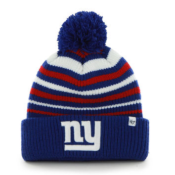 Mens New York Giants '47 Brand Royal Blue Incline Cuffed Beanie