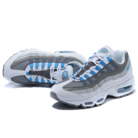NIKE Air max Sneakers Running Sports Shoes Grey Blue G-MDTY-SHINING