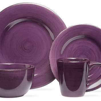 16-Pc Sonoma Dinnerware Set Purple Dinner Plates  sc 1 st  Wanelo : purple dinner plates - pezcame.com