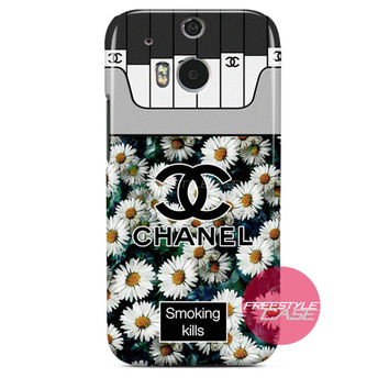Chanel Coco Flower Smoking Kills HTC One Case M8 M7 One X Cover