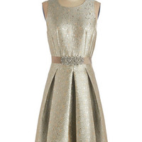 ModCloth Long Sleeveless A-line Moonlit and Lustrous Dress
