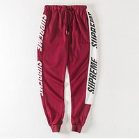"""""""Supreme"""" New Popular Women Men Casual Exercise Sport Pants Trousers Boy Girl Sweatpants Red"""