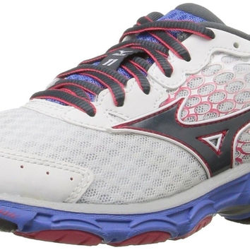 Mizuno Women's Wave Inspire 11 Running Shoe White/Turbulence 6 B(M) US