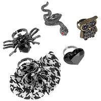 tm! Fashion Ring Set - Goth