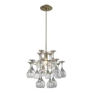 Titan Lighting 1-Light Ceiling-Mount Aged Silver Chandelier-TN-6043 at The Home Depot