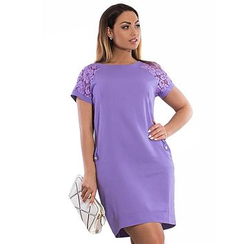 Lace Sleeve Elegant Bodycon Party Dress