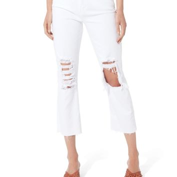 Daria Destructed Crop Jeans