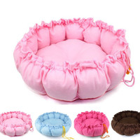 BIG PET PUPPY DOG CAT SOFT PET BED SLEEPING BAG WARM CUSHION HEART PILLOW  HP014