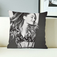 Ariana Grande Pose - Design Pillow Case with Black/White Color.