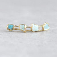 ear crawler / ear climber / ear cuff / raw turquoise earrings / turquoise jewelry / december birthstone / birthstone earrings / statement