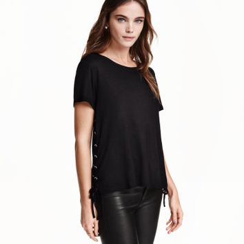 H&M Jersey Top with Lacing $17.99