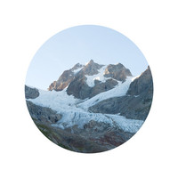 The Glacier and the Mountain (8x8 fine art photograph giclee print)
