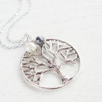 Tree of Life Jewelry Necklace,Silver Tree of life Charm Pendant,Woodland Jewelry,Trendy Jewelry,Family Tree Necklace,Mother Nature,BFF Gift