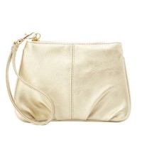 Ruched Faux Leather Wristlet Clutch by Charlotte Russe