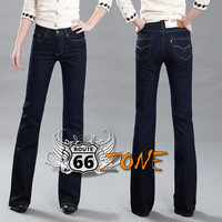 Women's Slim Mid Waist Boot Cut Jeans