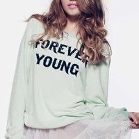 Wildfox Couture Forever Young Baggy Beach Jumper in Clear Pool