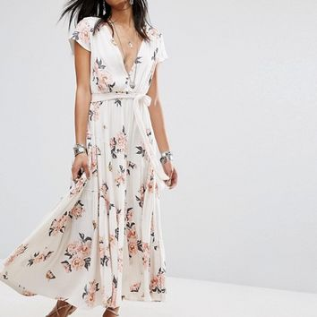 Free People All I Got Printed Maxi Dress at asos.com
