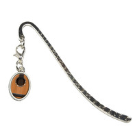 Acoustic Guitar Strings Oval Charm Metal Bookmark