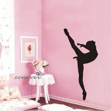 Dancing Girl Ballet Removable Graphic from ccnever on Etsy