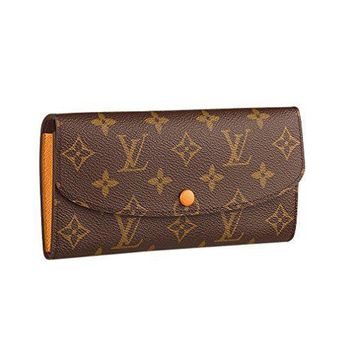Louis Vuitton Monogram Canvas Emilie Wallet Article:m64301 Safran