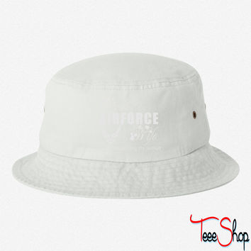 air force wife bucket hat