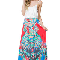 Boteh Mirrored Maxi Skirt
