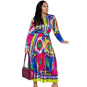 Africa Clothing Suit For Women Sets  African Print Elastic Bazin Baggy Skirts Rock Style Dashiki Sleeve