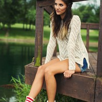 Bonfire Nights Taupe Knit Sweater