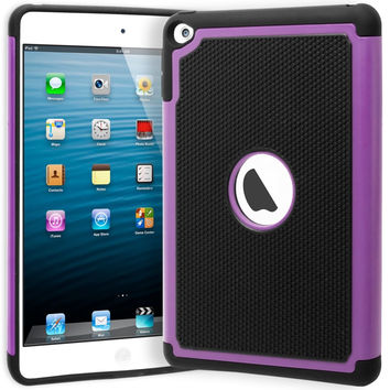 iPad Mini 4 Hybrid  Black Cover  Purple & Black Shock Case