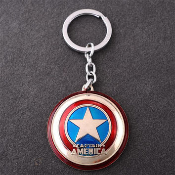 New The Avengers Marvel Character Captain America Shield Hulk Batman Mask KeyChain Keyrings Key Chain