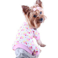 Puppy Thermal Pajamas- Dog PJ's, Pet PJs, Puppy PJs, Teacup Dog Pajamas, Pajamas For Dogs, Pink