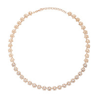 Eclectics White And Champagne Diamond Full Mini Star Rose Gold Necklace | Moda Operandi