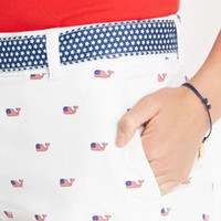 Flag Whale Print Dayboat Shorts