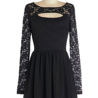 ModCloth LBD Short Long Sleeve A-line Feeling Pretty in the City Dress