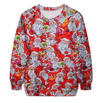 Casual Lovely Ugly Christmas Sweater Christmas Print Hoodies [9440723588]