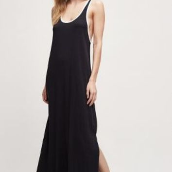 Sundry Sasha Tank Dress in Black Size:
