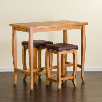 Three Posts Spencer 3 Piece Pub Table Set