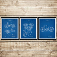 Harley Printable, Patent Print Group, Harley Art Print, Mechanic Gift, Harley Wall Print, Harley Wall Decor, Harley Poster, INSTANT DOWNLOAD