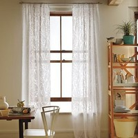 Cherry Blossom Burnout Window Panel | west elm